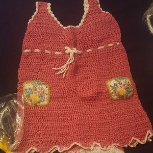 Crochet Handmade baby girl dress